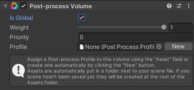 Post-Process Volume の Inspector