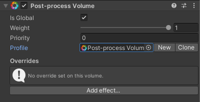 Post-Process Volume の Profile を作成