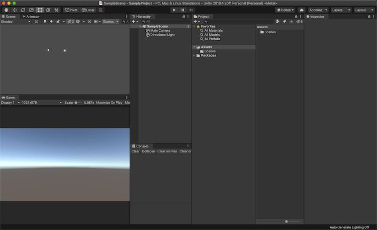 Unity Editor の画面
