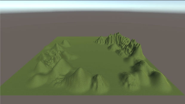 Terrain に色が付いた参考画像