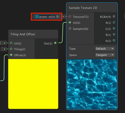 ShaderGraphの Sample Texture 2D ノード
