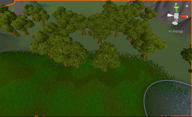 Terrain で木を植える