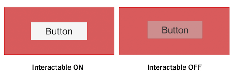 uGUI ボタンの Interactable の ONとOFF