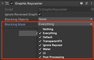 Graphic Raycaster の Blocking Mask