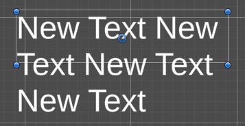 TextMesh Pro で overflow したテキスト